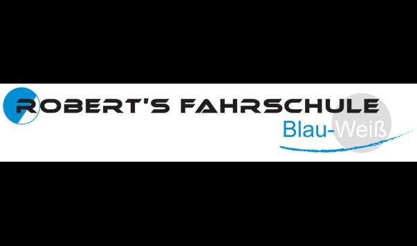 Robert´s Fahrschule Blau-Weiß