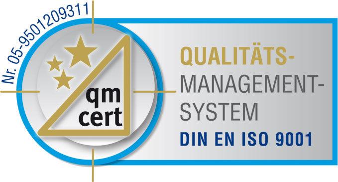 Geprüft nach DIN EN ISO 9001